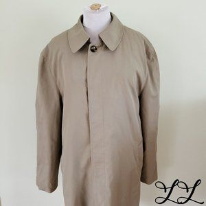 London Fog Trench Coat Zip Out Lining Beige Button